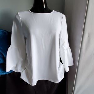 White Kensie Dress blouse